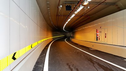Vitreous Enamel Panels in Sentosa Gateway Tunnel, Singapore