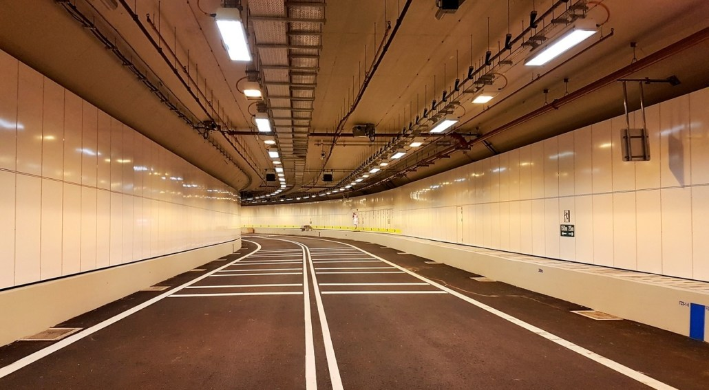 TECO VE Panels in Sentosa Gateway Tunnel
