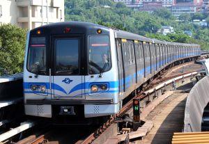 A Taipei Metro (MRT) train.