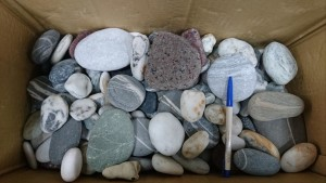 A box containing stones intercepted by customs officials