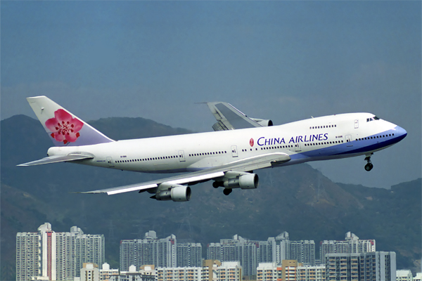 China airlines plane in flight