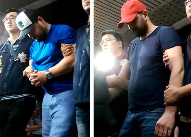 Romanian suspects Mihail and Nikolai in Taipei