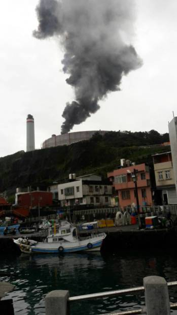 pollution in Keelung City power plant