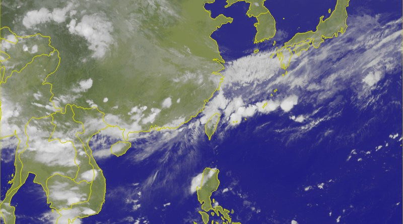 weather satellite image for east asia June 13, 2017