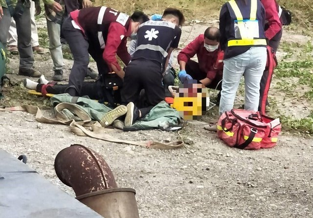 Vietnamese worker being treated after falling in industrial accident