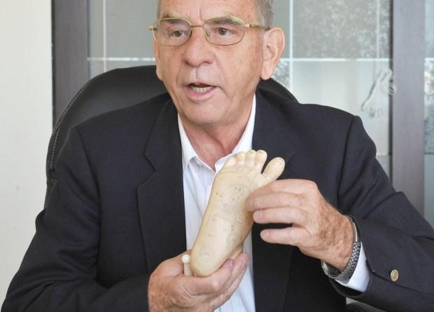 Father Joseph Eugster, reflexologist