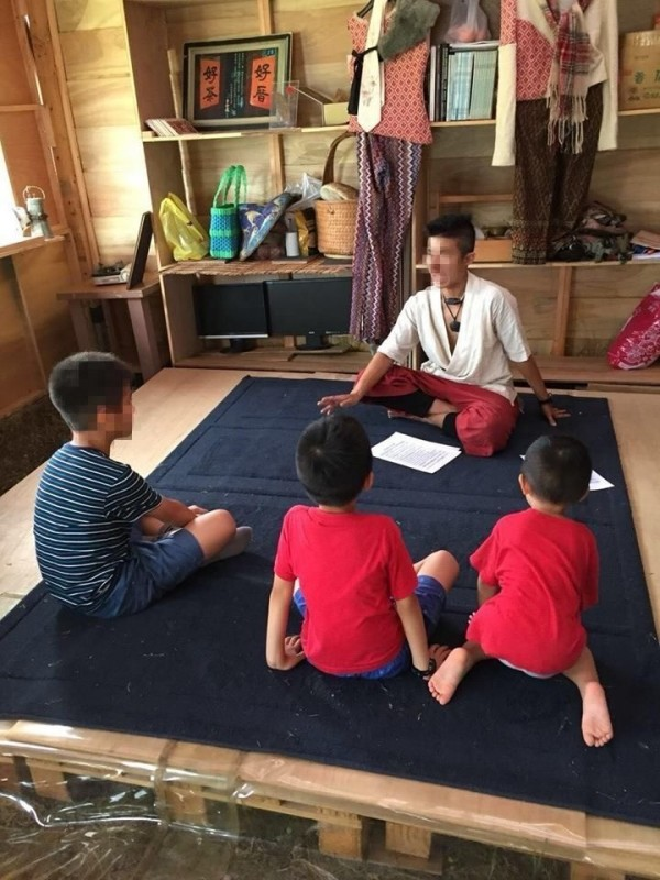 Chen teaching children at his studio 10 days after he had murdered Ms Gao