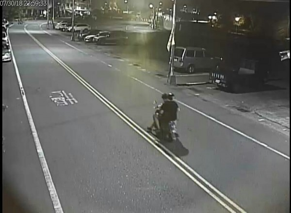 suspects on scooter