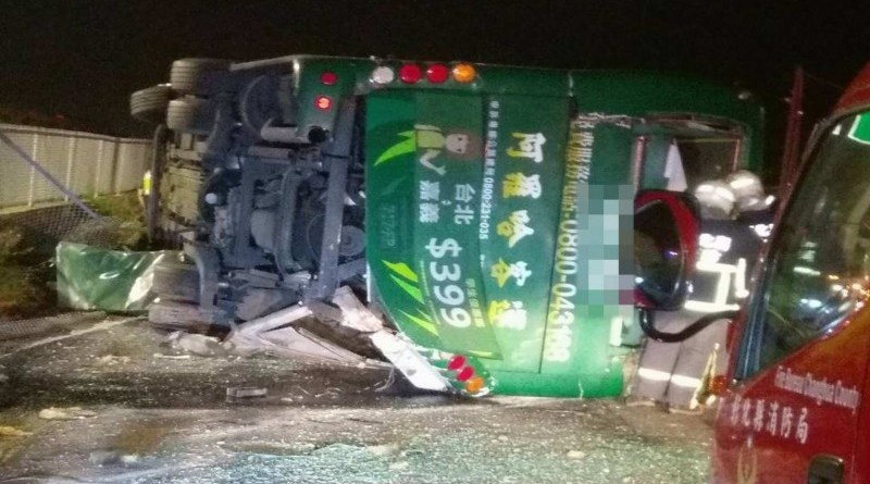 bus accident in Changhua County