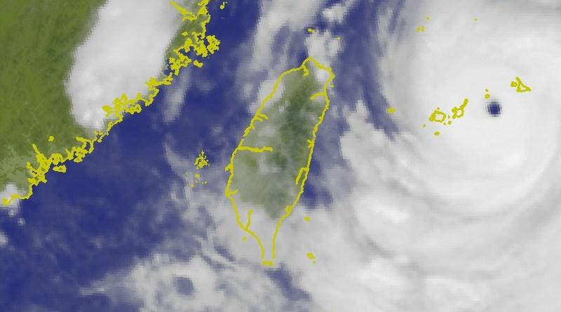 typhoon Lekima approaching Taiwan
