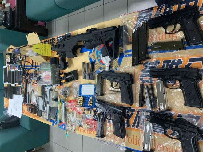 guns seized in Kaohsiung City
