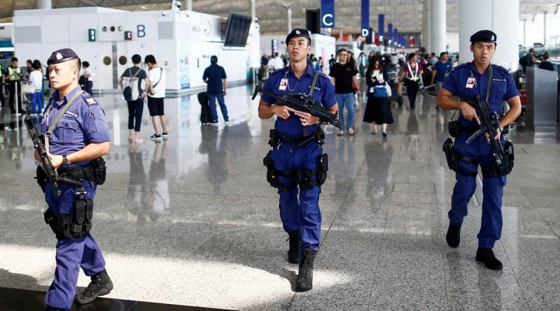 police at Hong Kong Airport