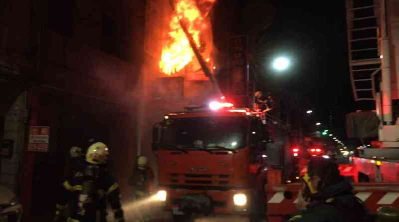residential fire in Kaohsiung City