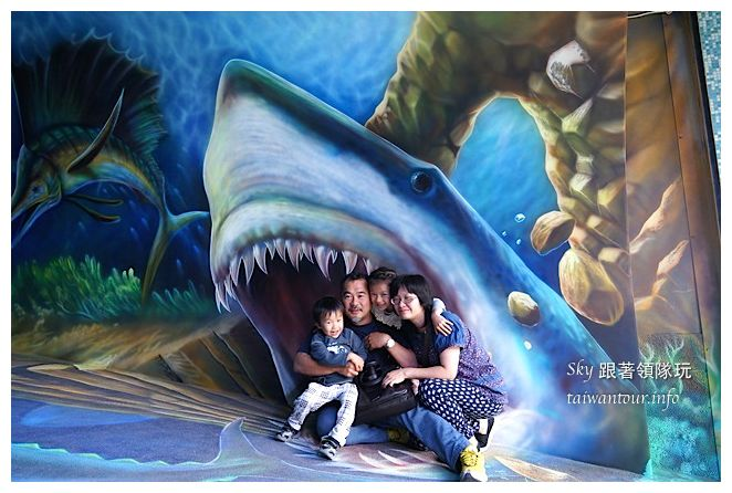 宜蘭蘇澳景點祝大魚3D彩繪360度海底隧道07115
