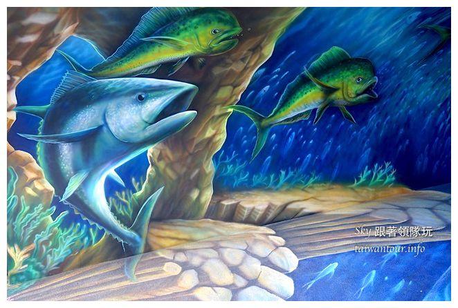 宜蘭蘇澳景點祝大魚3D彩繪360度海底隧道07130