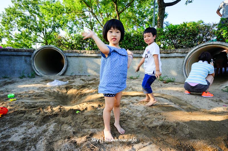 2019內湖景點推薦【內湖運動公園】免費親子玩水.攀岩.玩沙