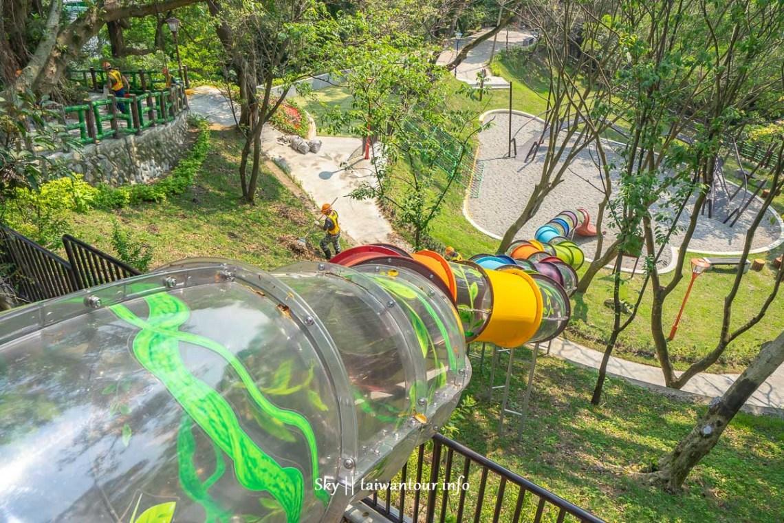 三峽【中山公園】30公尺樹藤溜滑梯.酷棧道.擺盪設施.平衡木.攀爬網特色親子景點一日遊