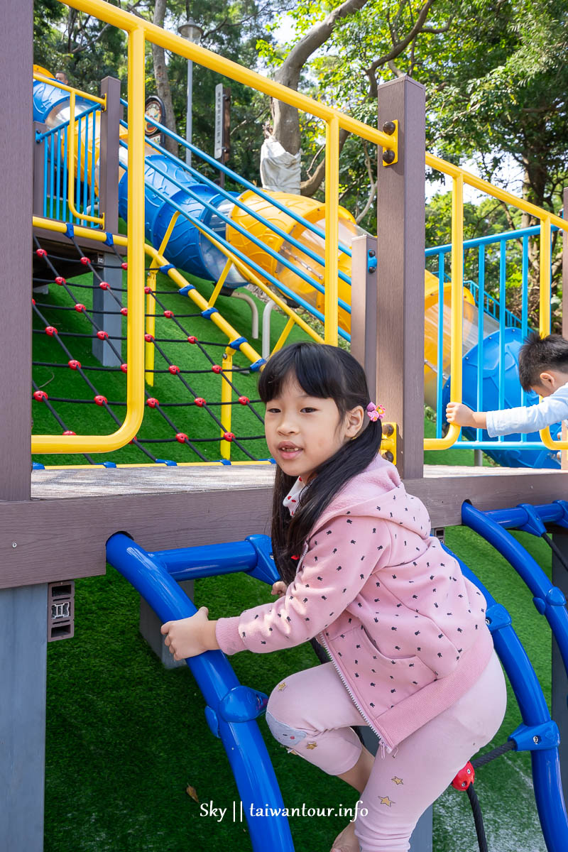 桃園親子景點【鑊篤陂塘生態公園】溜滑梯.沙池停車推薦