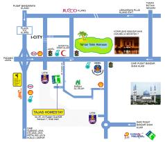 Tajas Homestay @ Shah Alam Route Map