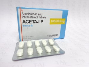 Taj Pharmaceuticals company carries the rich experience in the niche manufacturing of Aceclofenac and Paracetamol Tablets BP 100mg/325mg. Taj Pharmaceuticals is reputed manufacturer and Aceclofenac and Paracetamol Tablets