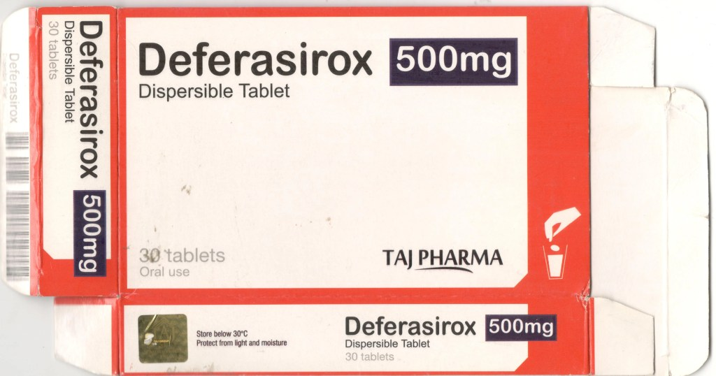 Deferasirox 500 Mg Dispersible Tablet Iron Chelating Agents