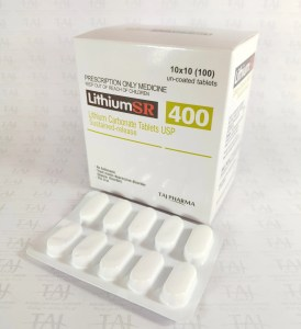 Lithium 400 MG Tablet SR Lithium Carbonate Oral Lithium Carbonate SR 400mg Tablets Taj Pharmaceuticals, one of the leading Lithium Carbonate Tablets USP Sustained-release 400mg (Lithium SR) manufacturers in India brings the best-quality products. Taj Pharmaceuticals company carries the rich experience in the niche manufacturing of Lithium Carbonate Tablets USP Sustained-release 400mg (Lithium SR).