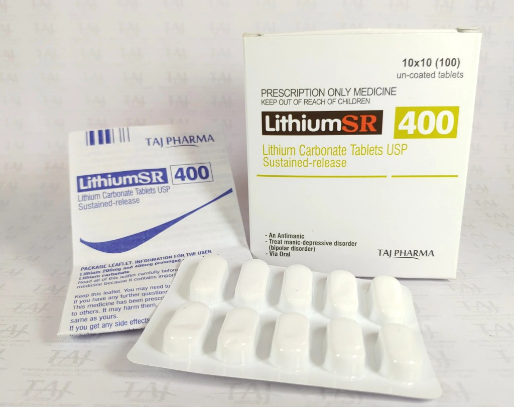 Lithosun SR Tablet View Uses, Side Effects, Price Taj Pharmaceuticals, one of the leading Lithium Carbonate Tablets USP Sustained-release 400mg (Lithium SR) manufacturers in India brings the best-quality products. Taj Pharmaceuticals company carries the rich experience in the niche manufacturing of Lithium Carbonate Tablets USP Sustained-release 400mg (Lithium SR).