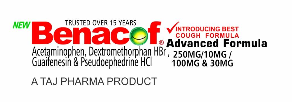 benacof-syrup - Acetaminophen, Dextromethorphan HBr ,Guaifenesin & Pseudoephedrine HCl 2- taj pharma