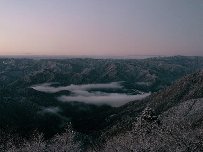 冬の比叡山