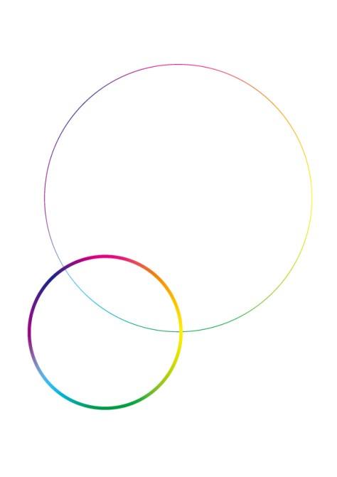 グラデーションの環