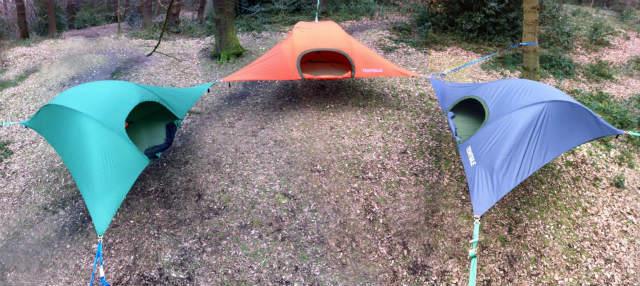 空中に張るハンモックのようなテント「Tentsile」 (5)
