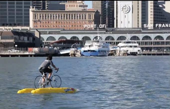 人力世界一周にこだわる人は海の上を走る自転車ベイバイクを使うべし!(動画あり)