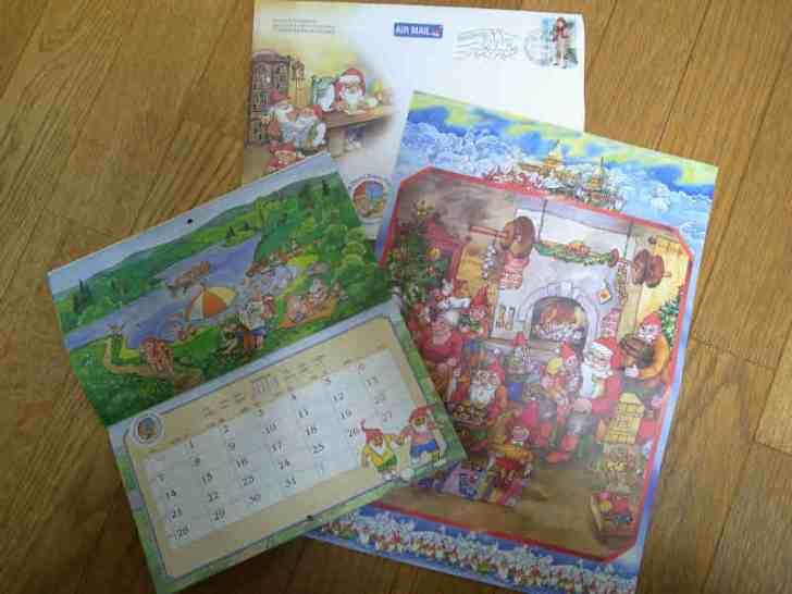 クリスマスにフィンランドのサンタクロース村の白ひげおじさんから手紙とカレンダーが届いたよ!