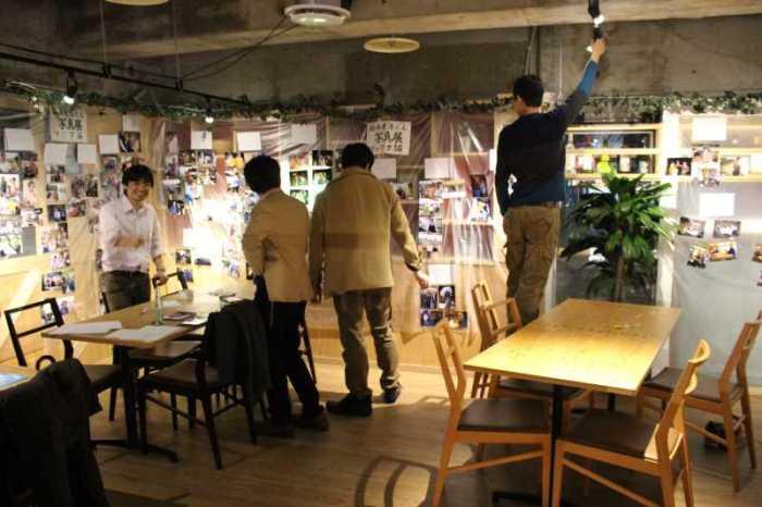 東海高校55回卒の同窓会にて自転車世界一周写真展とマグロの解体ショー! (3)