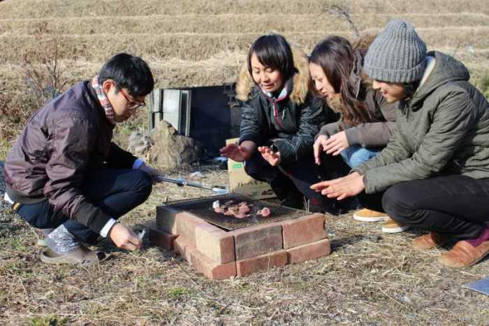 鳳来牛と鹿肉を炭火で焼きたくて、雪が降る中のBBQをやってみた! (3)
