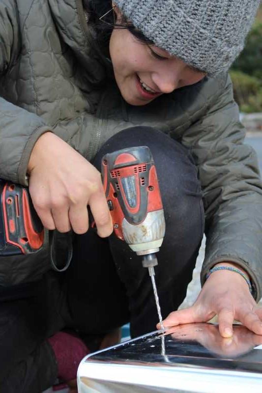 女猟師と燻製器を一斗缶で自作し、鹿肉の燻製をやってみた! (6)