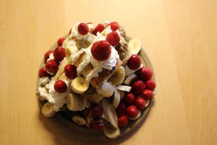 手作り抹茶バームクーヘンを「誕生日ケーキ城」にしてみた!これぞ新城!! (8)