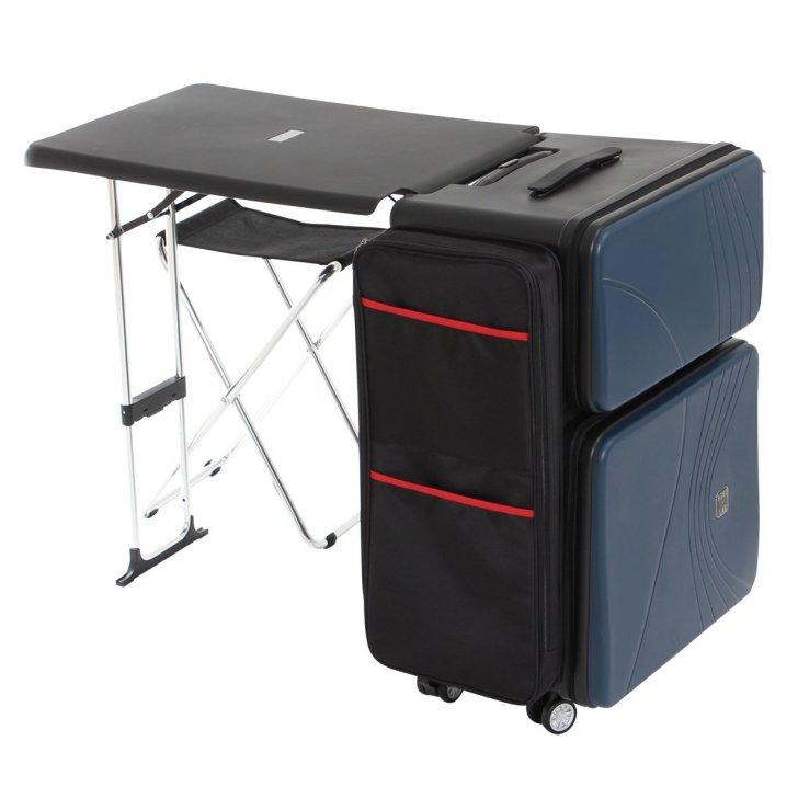 折りたたみデスクが内蔵されているスーツケースだと!?どこでもいつでもボードゲームできるぞ! (1)