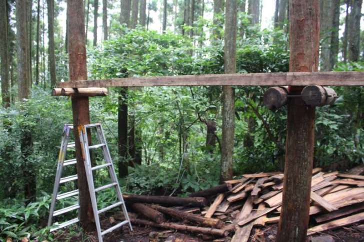 【ツリーハウスの作り方】ガンコ山の講習でセルフビルドしてきたよ! (8)