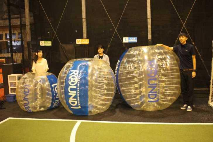 「健康維持にバブルサッカー」若者議会の医療チーム政策が新聞に取り上げられたし、バブルサッカーをやってみた! (1)