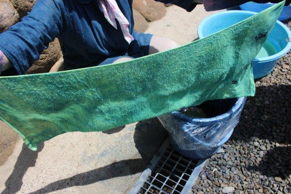 草木染め染色体験ふたたび。藍染めTシャツの作り方を研究してみたよ! (2)