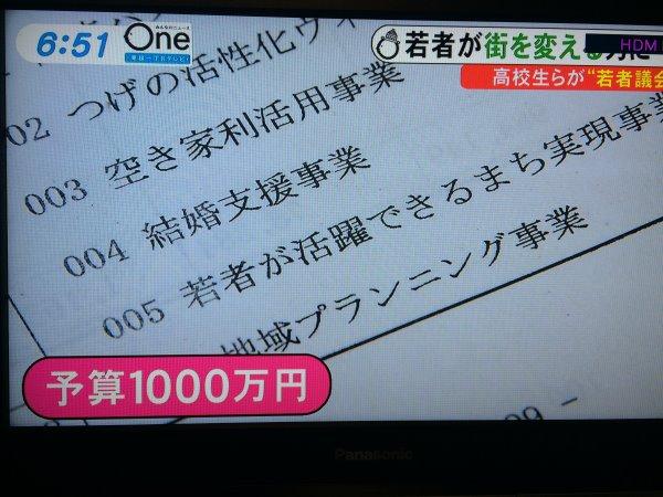 みんなのニュースOneに愛知県新城市若者議会が取り上げられました! (9)