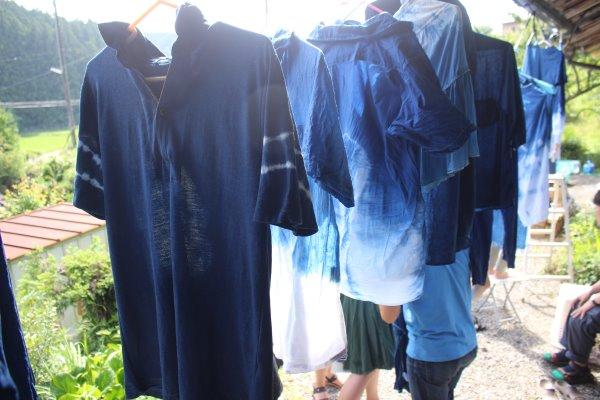 藍染めのワークショップを開催したよ。衣食住の衣のワークショップって珍しいのかも。 (13)
