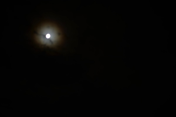 雲の上、月の下