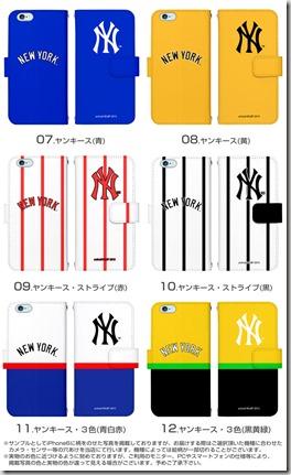 手帳型スマホケース「New York Yankees」02