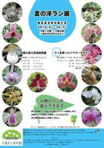 京都府立植物園洋ラン展ポスター