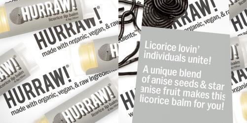 hurraw licorice lip balm ingredienten