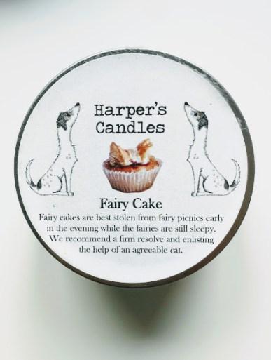 vegan geurkaars Fairy Cake Harper's Candles