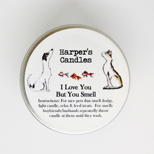 Harper's Candles I love you but you smell