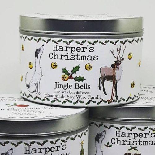 vegan geurkaars Jingle Bells Harper's Candles